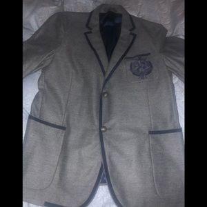 Gucci Mens Wool Grey Blazer Size 52R/42R